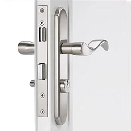 Mortise Storm Door Hardware Satin Nickel For 1 1/8 Inch To 2 Inch