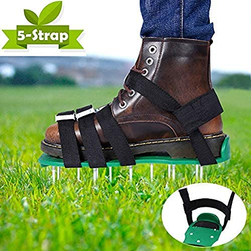 Aireador de Cesped Zapatos, EEIEER Zapatos para Airear el Césped Escarificador Cesped Zapatos Jardín de Césped Spikes Sandalias con 10 Correas Ajustables, para tu Césped, Jardín, Jardinería: Amazon.es: Jardín