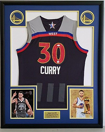 05490804b1a9 Stephen Curry Autographed Jersey - GS ALL STAR Custom Framed - JSA  Certified - Autographed NBA