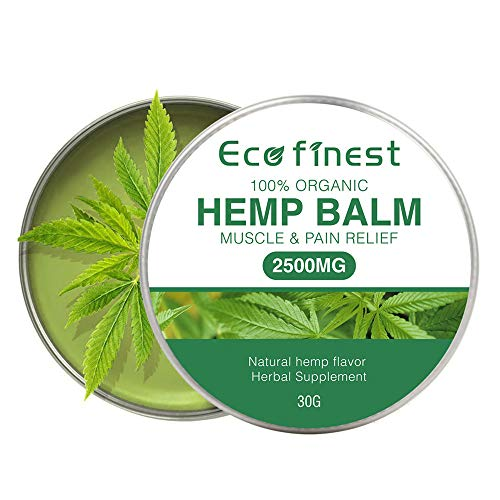 Hemp Balm for Pain Relief (2500MG)- Natural Hemp Extract Oil Salve for Back/Muscle Pain Relief, Premium Hemp Salve Non-GMO Anti-inflammatory for Joint Pain