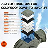 Vgo 2Pairs -4℉ or Above 3M Thinsulate G80 Lined