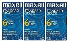 Maxell VHS Blank 3-Pack Standard Grade T...