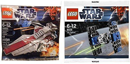 Lego Star Wars Attack ships Tie Fighter & Republic Attack Cruiser set - Polybag 30053 + 8028 Darth Maul edition Building Set