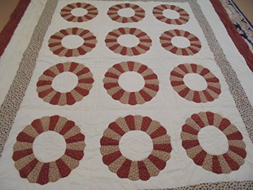 Pretty Fall Colors Dresden Plate Pattern Quilt