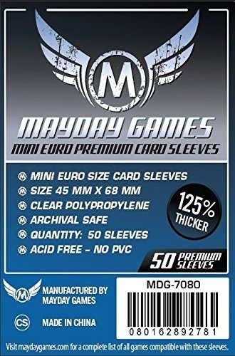 (Mayday Games Mini Card Sleeve 45 MM X 68 MM pack of 100)