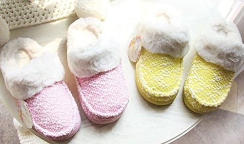 Cravatta Da Donna Mezza Copertura In Pile Calde Pantofole Fuzzy Pantofole Rosa