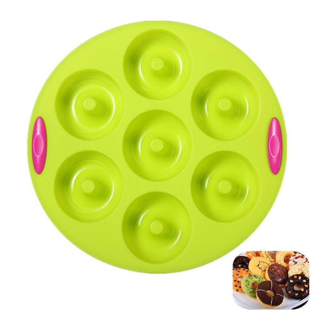 Mini Round Cake Pans, 6 Well, Nonstick & Quick Release Coating, Extra Thick & Solid Silicone with Textured Grips by KuXun (6 Cups of Round) KeepingcooX GC-P0K8-JVGK