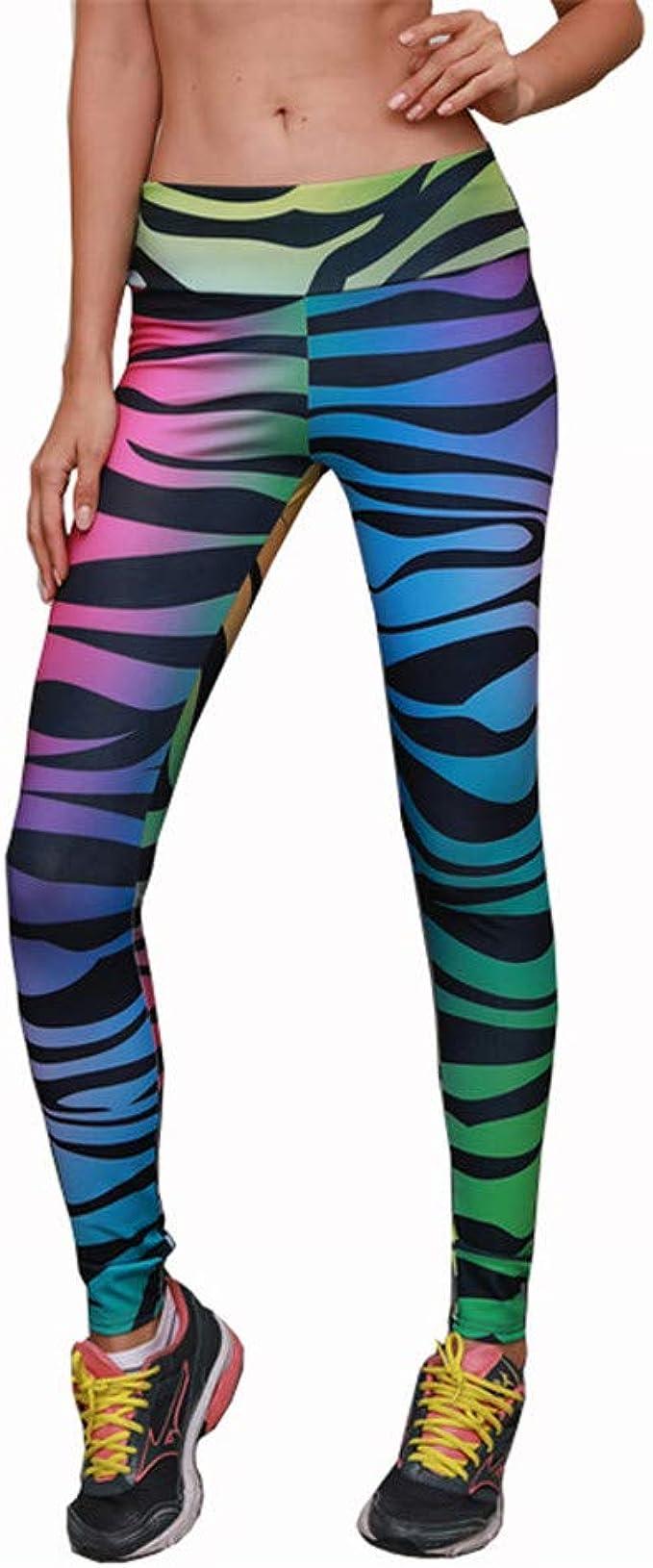 legging sport zebre