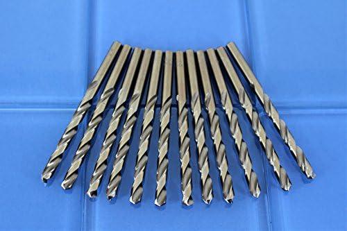 TEMO 12 pc 1//8 inch Cobalt 135-Degree Jobber Drill Bit 4.5 inch Length 3.2mm