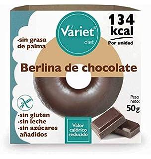 Váriet Diet - Berlina de chocolate tipo Donut, Sin gluten/sin leche, 50