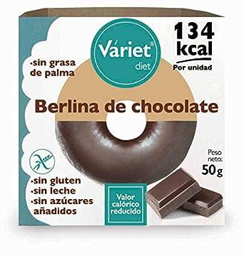 Váriet Diet - Berlina de chocolate tipo Donut, Sin gluten/sin leche, 50 g: Amazon.es: Alimentación y bebidas