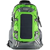 ECEEN Solar Bag Solar Charger Backpack With 7 Watts Solar Panel for Mobile Phones, Tablets, Android Phones,Smartphones, and Many Other 5V USB-Charged Devices