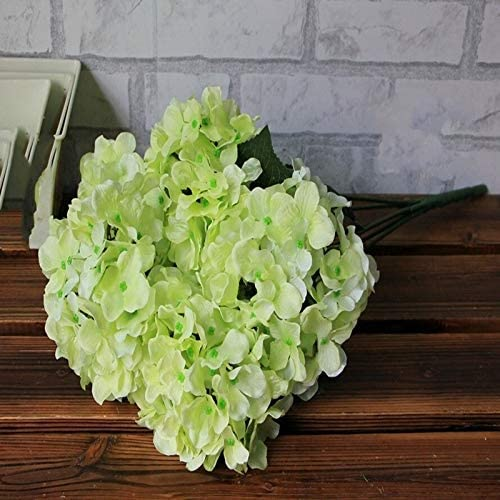 ZREED 6 PCS Grands Hortensias Bouquets for Simulation de Mariage Tissu Artificielle Bouquet De Fleurs Color : White