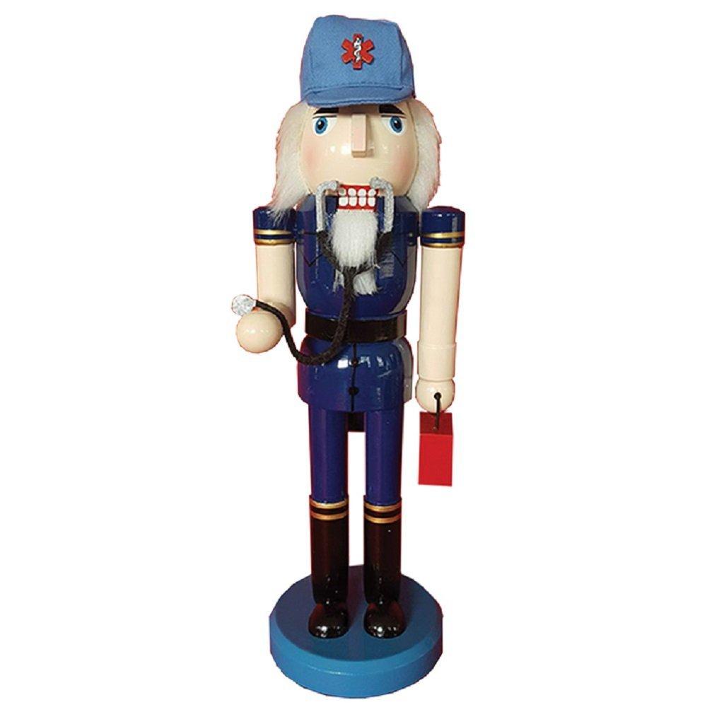 Santa's Workshop Emt Nutcracker, 14'' Tall, Blue/Red