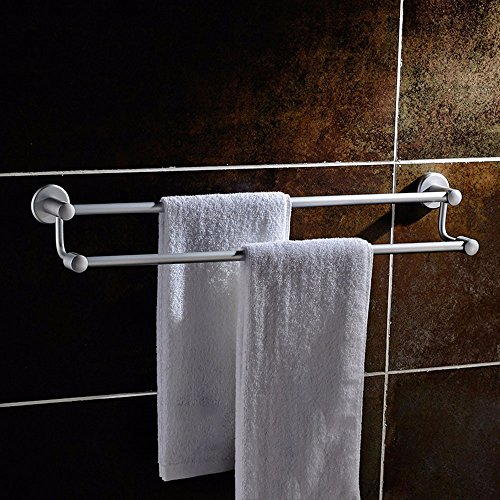 Aluminum Alloy 50cm Space Double Holder Towel Rails - 1