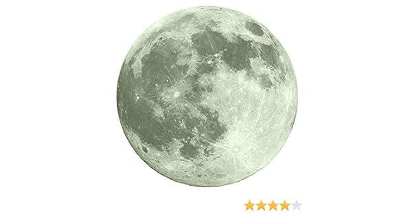 YWLINK 30cm Etiqueta Engomada De La Pared Fluorescente De La Luna ...