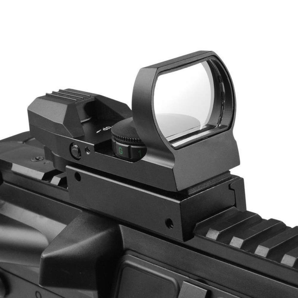 HERCHR Optical Sight Scope, For Gun Airsoft Pistol Red/Green Dot Holographic 1x22x33 CN, Black by HERCHR (Image #2)