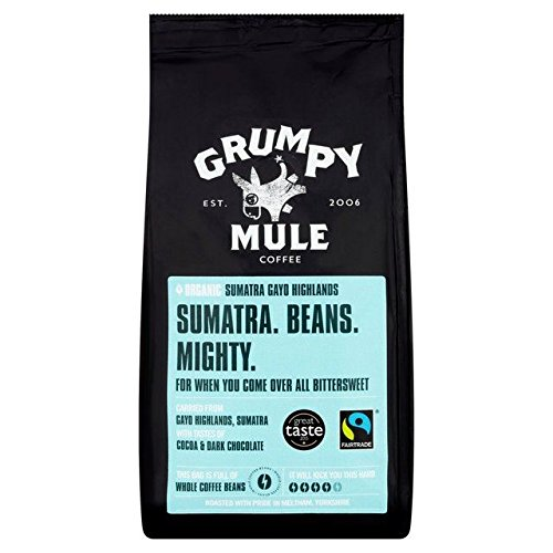 Grumpy Mule Organic Sumatra Fairtrade Coffee Beans - 227g