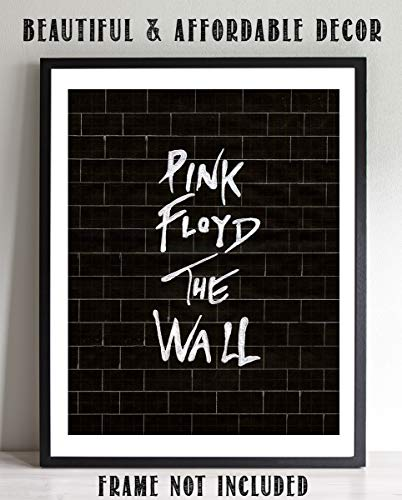 """Pink Floyd-The Wall""- Rock Music Wall Art- 8 x 10"" Wall Print- Ready To Frame- Iconic Music Poster Replica Print. Home Decor- Studio-Bar- Dorm- Man Cave Decor. Perfect Gift for Pink Floyd Fans."
