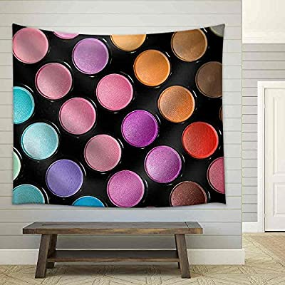 Makeup Set. Professional Multicolor Eyeshadow Palette - Fabric Wall Tapestry Home Decor - 68x80 inches