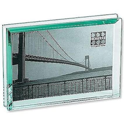 Amazon.com : The EMERALD Bevelled Glass Block frame \'floats\' your ...