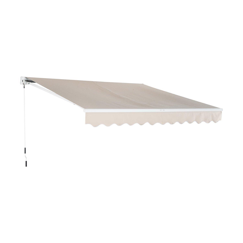 Outsunny Tenda da Sole Avvolgibile da Esterno Impermeabile in Poliestere 3×2, 5m