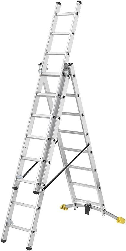 Hailo 1420-501 Escalera plegable, aluminio: Amazon.es: Hogar