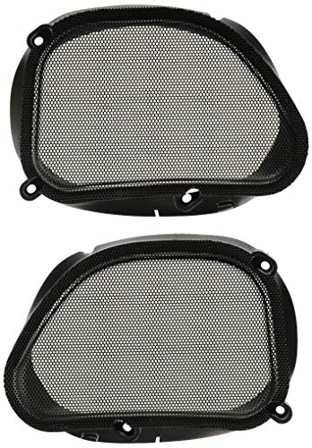 (Hogtunes 57 MESH Replacement Front Speaker Grilles for 1998-2013 Harley-Davidson FLTR Road Glide Models)
