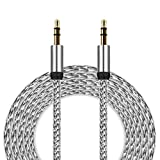 51tikTN69DL. SL160  - 3.5mm Auxiliary Cable Audio Cable Male To Aobiny Male Flat Aux Cable 3m (Silver)