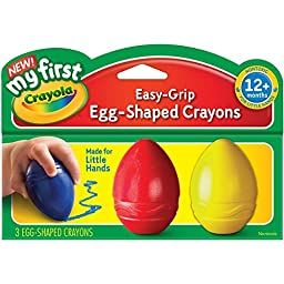 2 PACKS: Crayola My First Egg Shaped Crayons Red Blue Yellow (81-1345)