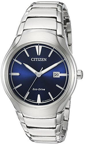 Citizen Men's 'Dress' Quartz Titanium and Stainless Steel Casual Watch, Color:Silver-Toned (Model: AW1550-50L)
