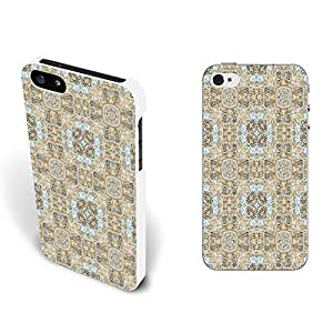 Simple Retro Designed Protective Phone Case Hard Plastic Back Cover for Iphone 5 5s (vogue flower art BY801)