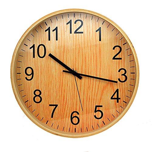 decorative round wall clock electronic mute wall clock