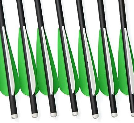AMEYXGS 6 Piezas Pernos de Ballesta Flechas de Ballesta de Carbono 16 17 18 20 22 para La Pr/áctica de Caza y Tiro con Arco de Ballesta