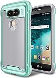 LG G5 Case, E LV LG G5 - Hybrid [Scratch/Dust Proof] Armor Defender Slim Shock-Absorption Bumper Case for LG G5 -[GREY/MINT]