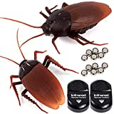 NiGHT LiONS TECH 2 Pieces Emulational Remote Control Cockroach Fake Roach Toy Scary...