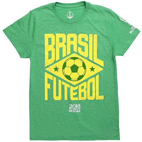 Fifth Sun World Cup 2018 Brasil Futebol Adult T-Shirt - Green (Large)