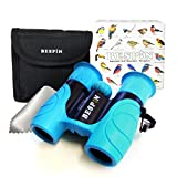 High-Resolution Kids Binoculars Set 8x21 - Bird Watching - Educational Learning - Birthday Gift- Hunting - Outdoor Camp - ( Rubber Shock Proof and Prism Coating ) Sky Blue