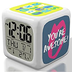 New 2018 Model Alarm Clock - Upgraded Digital Display Model For Kids, Teens & Adults - Today Get 100% Warranty - Clocks for Home and Travel, Work for Heavy Sleepers - Limited Edition