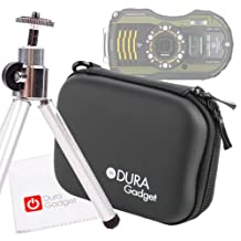 DURAGADGET Ultimate! Camera Starter Kit (Hard Case, Mini-Tripod & Cleaning Cloth) For The Pentax Optio WG-1, WG-2, WG-3, Ricoh WG-4, WG-10 & WG-20 (including all GPS Variants)