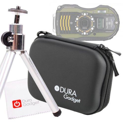 Camera Starter Kit (Hard Case, Mini-Tripod & Cleaning Cloth) for The Pentax Optio WG-1, WG-2, WG-3, Ricoh WG-4, WG-10 & WG-20 (Including All GPS Variants) ()