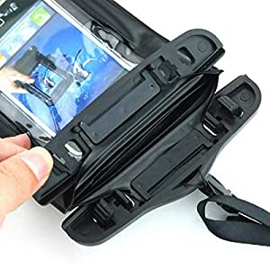 Waterproof Bag with Armband & Wrist Strap for iPhone 5 / 5S & iPod Touch (Black)