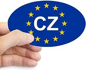 CafePress EU Czech Republic Oval Bumper Sticker, Euro Oval Car Decal