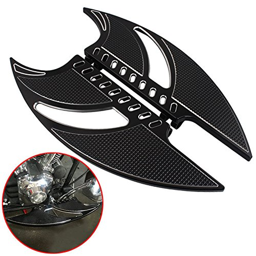 - Frames & Fittings CNC Front Billet Foot Board & Driver Stretched Floorboards Front Floor Board Inserts for Harley Touring Softail FLT FLHT