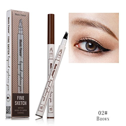 Ankooy Eyebrow Pen,2018 Eyebrow Long Lasting Tint Dye Cream,Waterproof,Smudge-proof (02#)