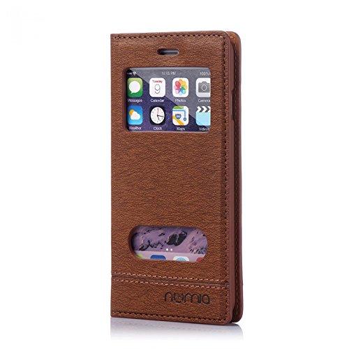 numia Handy Tasche Schutz Hülle Wallet Case Flip Cover Klapp Etui Schale Für Apple iPhone 7 Plus Braun