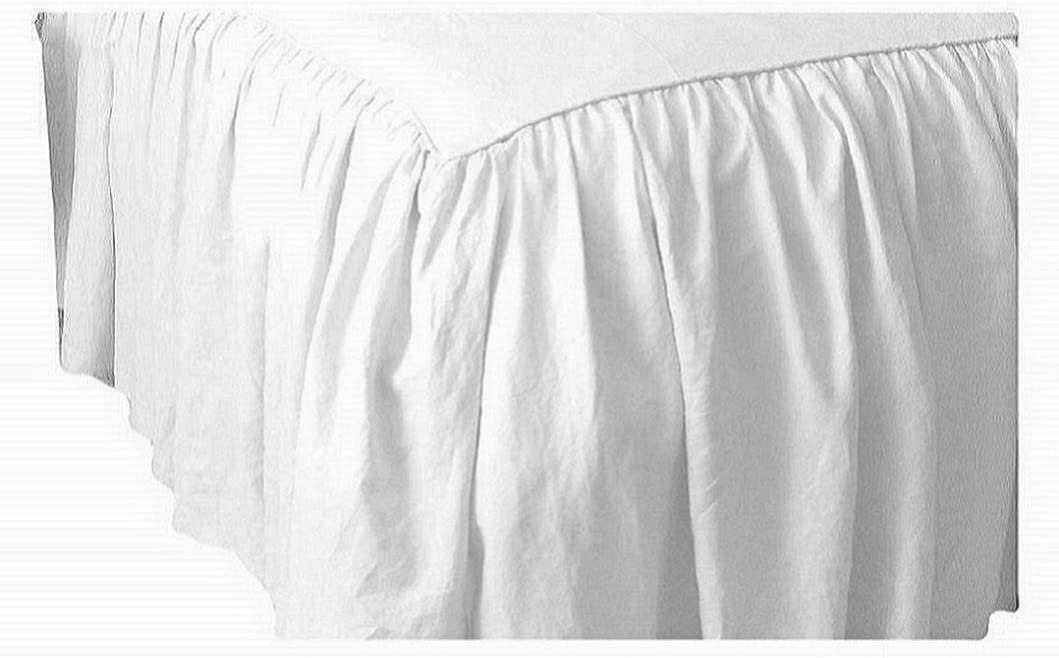 650-TC Cotton SPLIT Corner Ruffle Bed Skirt Solid Silver Grey All Size//Drops NEW