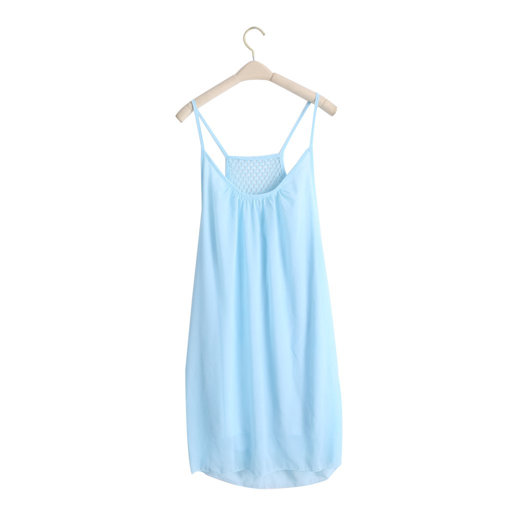 Arich Women Mini Dress Casual Sleeveless Evening Party Beach Fluorescence Sundress BLXL