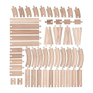 50-piece Track Set Wooden Toy LILLABO by IKEA