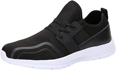 Zapatillas de Running para Hombre Transpirables Zapatos Casuales Comodos Ligero Low Top Sneakers Suaves Cómodas Resistente al Desgaste Calzado de Trabajo Zapatillas de Trekking JiaMeng_ZI: Amazon.es: Ropa y accesorios